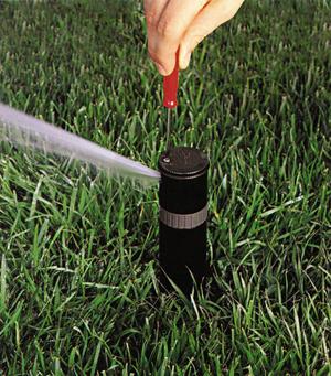Sprinkler Head Being Adjusted